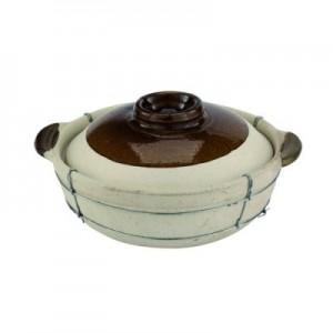 Casseruola in terracotta con coperchio