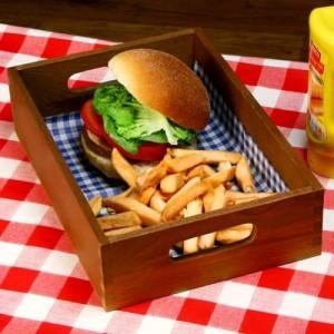 Vassoio burger in legno