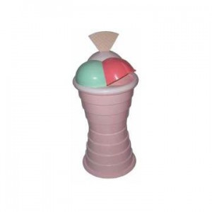 Gettacarte grande a forma di coppa gelato