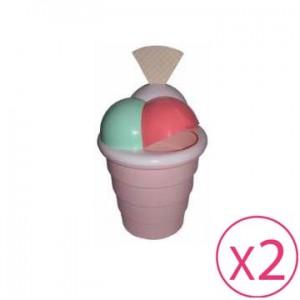 Gettacarte piccolo a forma di coppa gelato - 2 pz