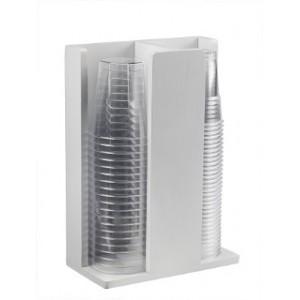 Portabicchieri in bamboo 2 scomparti (Complementi per il Buffet) Colori: Bianco |