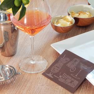 Cocktail Cioccolato Tovagliolo 24x24