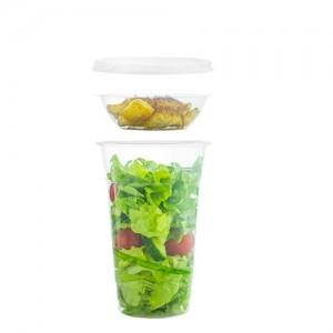 Kit da 200 bicchieri per insalata con inserto e coperchio