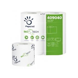 Carta igienica Papernet da 250 strappi fascettati singolarmente Biotech