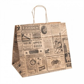 Shoppers 32+21x28,5 cm Stampa giornale
