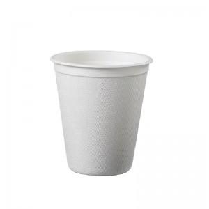 Bicchiere bio in polpa di cellulosa, biodegradabile e compostabile