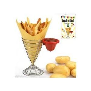 Detercarta srl porta patatine fritte in metallo con for Porta ketchup