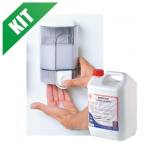 kit distributore sapone lavamani + ricarica