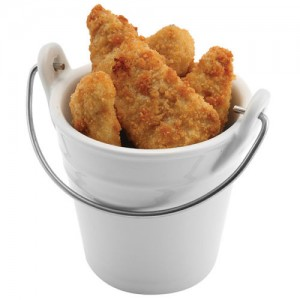 Secchio in porcellana fastfood