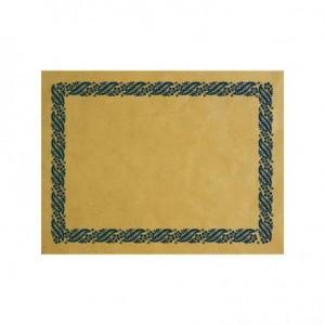 Tovaglietta Carta Paglia con decoro Blu 30x40 cm