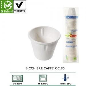 bicchieri caffè e bevande calde e fredde cc.80 compostabili