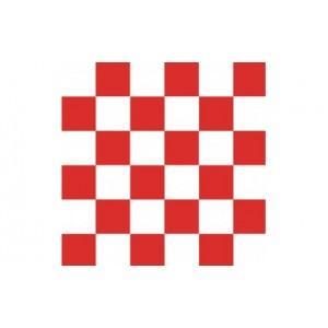 Carta alimentare antiunto a scacchi bianchi e rossi