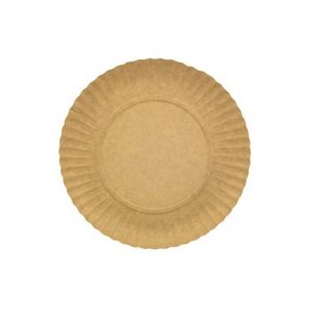 Piatto di Carta Tondo Kraft piano