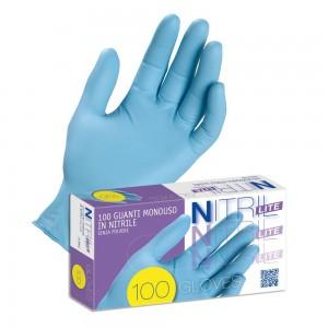 200 pezzi Guanto monouso in nitrile Nitril LITE, Taglia M (7-7,5