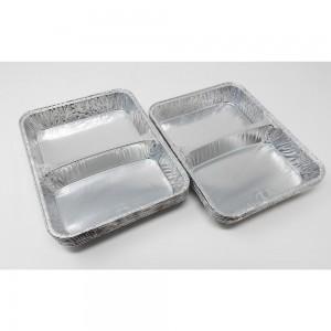Contenitore in alluminio per alimenti a 2 scomparti