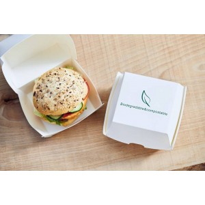 Hamburger box bio compostabile