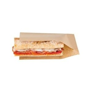 Sacchetto di Carta antigrasa per Hot Dog Kraft Naturale