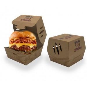 Burger Box Scatola di cartone a conchiglia