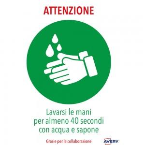Lavarsi le mani Adesivo