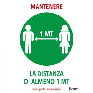 Mantenere la distanza di 1 mt