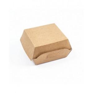 Scatola porta panino in cartoncino naturale kraft biodegradabile