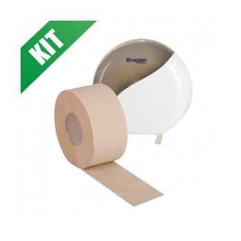 Kit carta igienica jumbo con dispenser