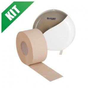 Kit carta igienica jumbo con dispenser