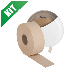 Kit carta igienica jumbo maxi con dispenser