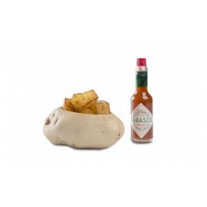 Ciotola a forma di patata, in resina.