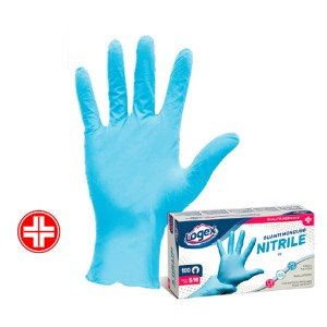 Guanti Nitrile blu senza polvere Misura S/M