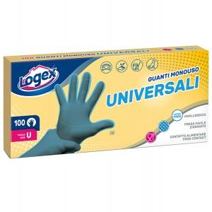 Guanti - polietilene clorurato anallergico - riciclabile - taglia universale - azzurrro